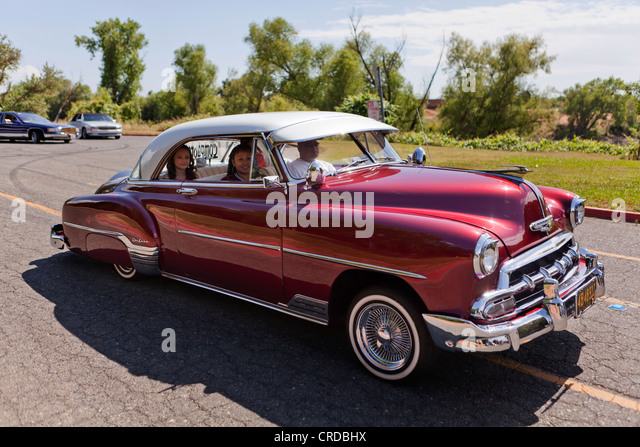 1952 chevy deluxe lowrider california usa stock image
