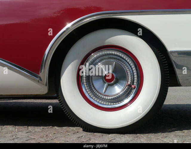 whitewall tires stock image