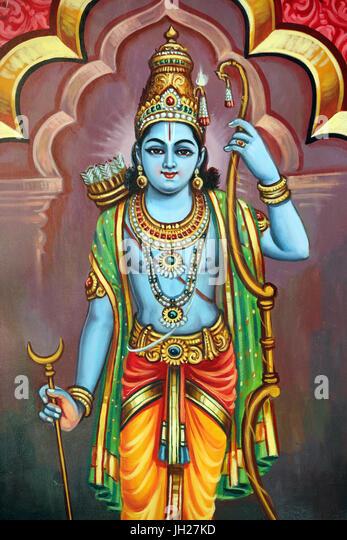 Lord rama stock photos lord rama stock images alamy sri vadapathira kaliamman hindu temple avatar of vishnu lord rama 7th incarnation singapore freerunsca Choice Image