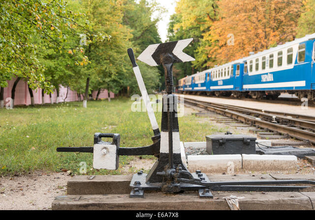 Change Lever For Trains : Rail change stock photos images alamy