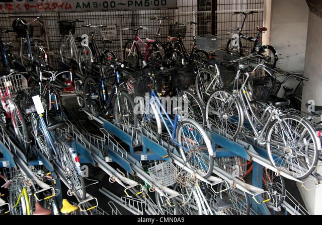 Japan Bicycle Parking Stock Photos Japan Bicycle Parking Stock
