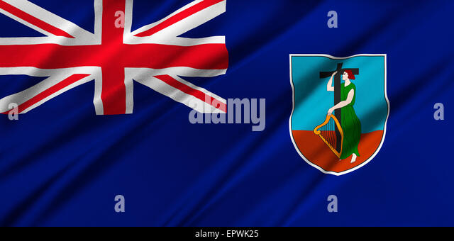 National Flag Of Montserrat Stock Photos  National Flag Of