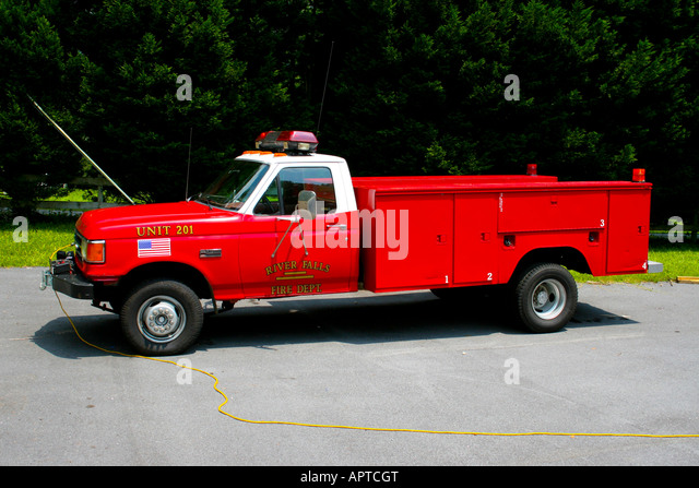 River Falls Fire Department Utility Truck   Stock Image