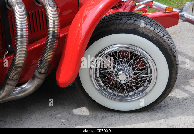 white wall tires stock image