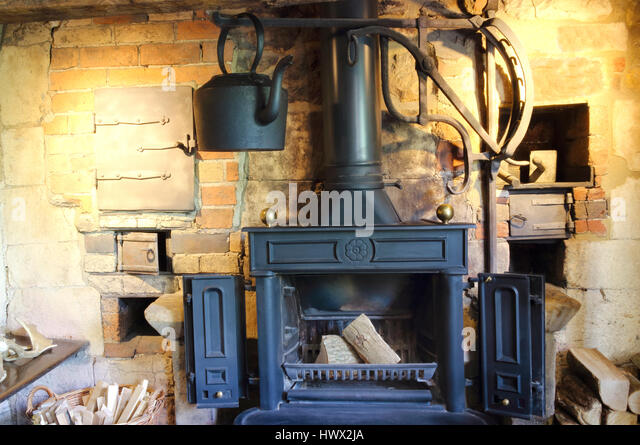 Old Brick Fireplace Stock Photos & Old Brick Fireplace Stock ...