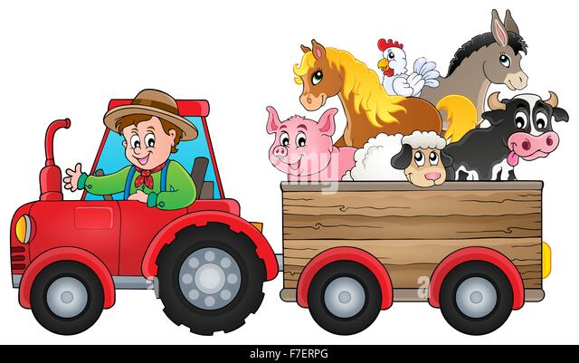 Tractor Cart Clip Art : Donkey with trailer stock photos