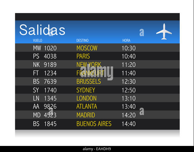 Timetable Spanish Stock Photos Amp Timetable Spanish Stock