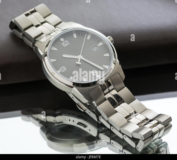 watches and notebook, macro - Stock Image