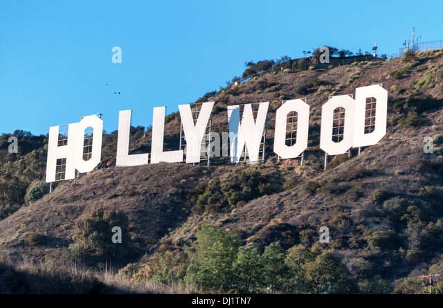 Famous hollywood sign in los angeles stock image