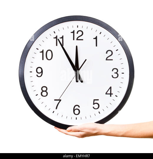 Womanu0027s Hand Holding A Clock   Stock Image