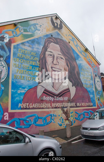 Belfast mural h block stock photos belfast mural h block for Bobby sands mural