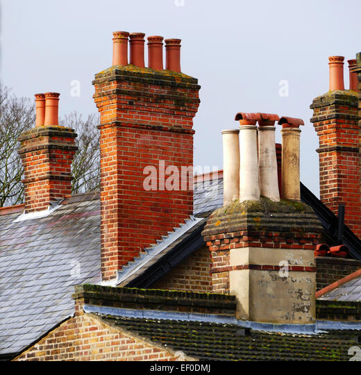 Chimney pots on suburban roofs Wanstead London E11 - Stock Image & Roofs Chimney Stock Photos u0026 Roofs Chimney Stock Images - Alamy memphite.com