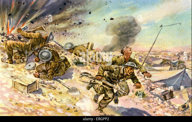 World war ii in africa stock photos world war ii in africa stock wwii desert war in north africa battlefield scene with explosion caption reads sciox Image collections