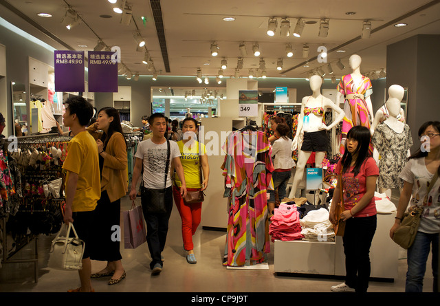Chinese Shopping Store In Tianjin Stock Photos & Chinese ...