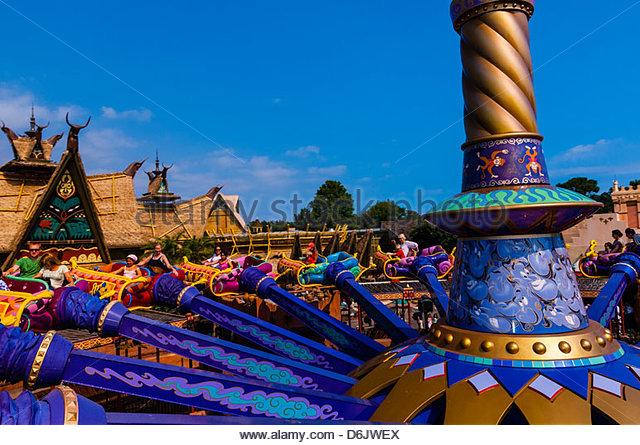 Disney world florida aladdin stock photos disney world for Aladdin carpet ride magic kingdom