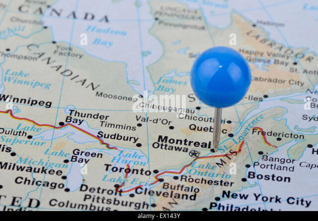 Map Of Montreal Stock Photos  Map Of Montreal Stock Images  Alamy