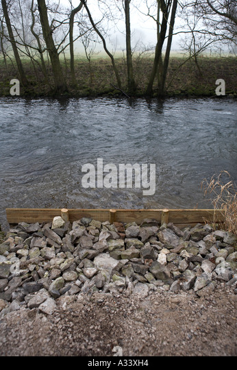 River Bank Repair : River erosion control stock photos