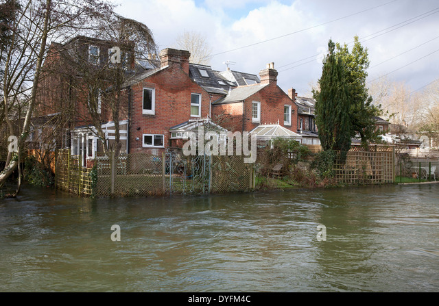 House Surrounded Flood Water Stock Photos House