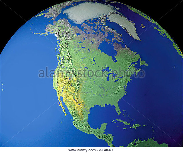 Map Mexico Canada Stock Photos Map Mexico Canada Stock Images
