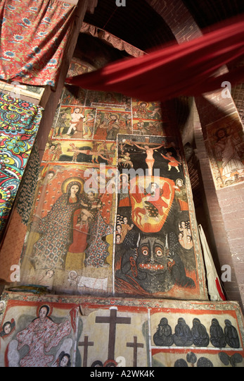 Ethiopian orthodox art stock photos ethiopian orthodox for Church mural restoration