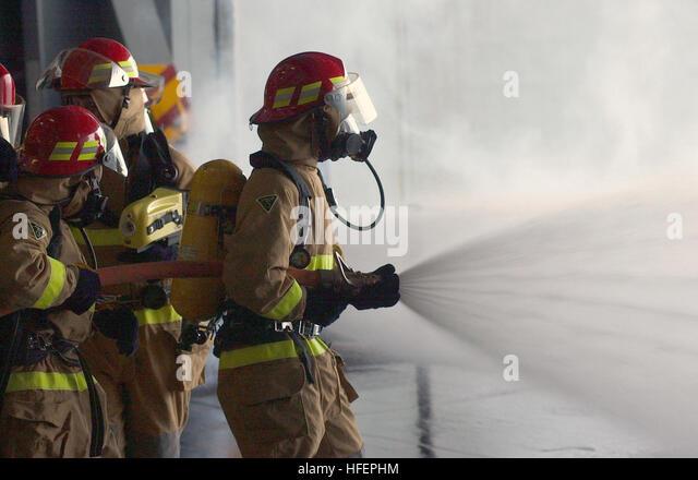Fire hose nozzle stock photos