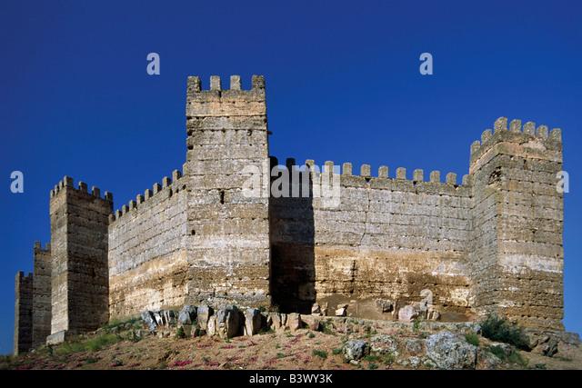 Moorish castillo de burgalimar at ba os de la encina spain stock photo picture and royalty free - Castillo de banos de la encina ...