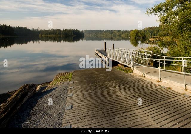 Boat Launch At Lake Stock Image