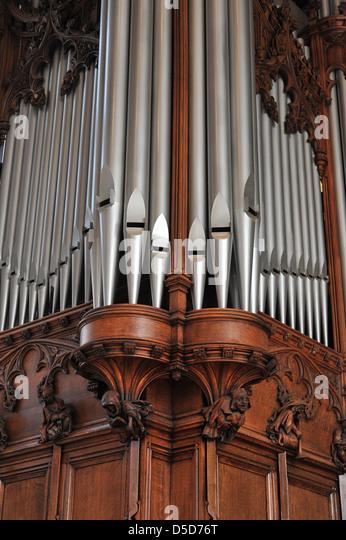 Beautiful Old Pipe Organ Pipes