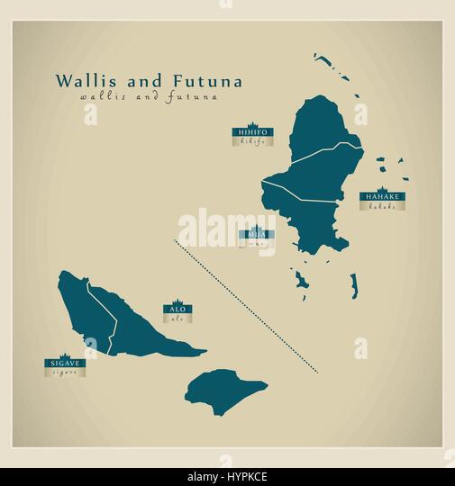 Wallis And Futuna Islands Stock Photos Wallis And Futuna Islands - Wallis and futuna map