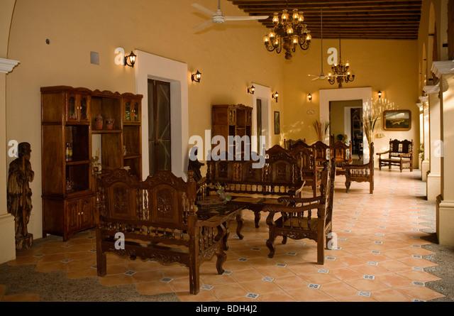 Wonderful Sitting Area Off Patio At Hacienda Quinta Minera Hotel In The Historic Town  Of Cosala,