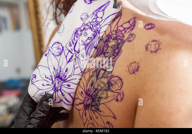 Transfer tattoo stock photos transfer tattoo stock for Tattoo transfer paper
