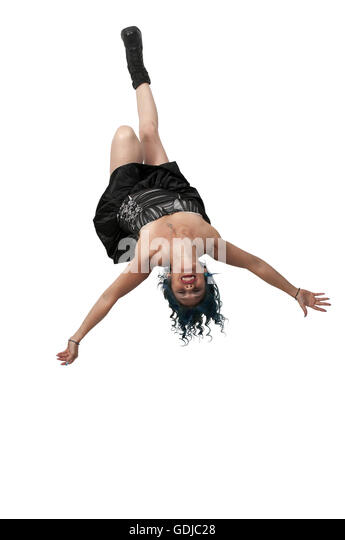 Young Woman Balancing Upside Down Stock Photos Amp Young