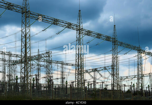 Electrical substations stock photos electrical for Distribution substation