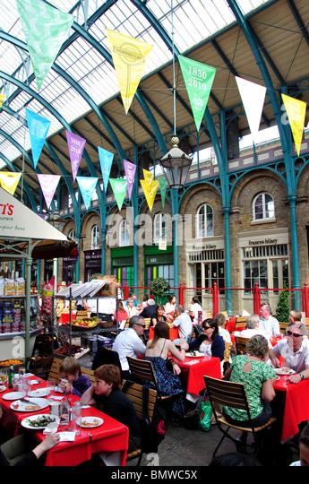 Camden indoor market stalls stock photos camden indoor for Cafe de jardin in covent garden