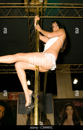 Me? Female strippers on stage something is