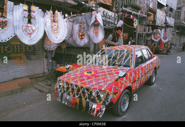 Wedding pakistan stock photos wedding pakistan stock for Auto decoration in pakistan