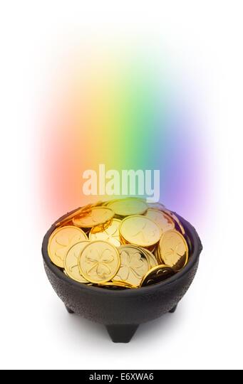 pot gold end rainbow stock photos amp pot gold end rainbow