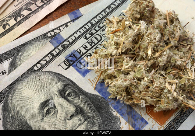 Weed On A Dolar Banknotes