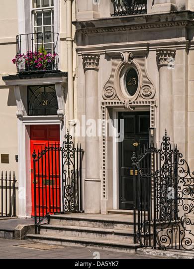 Door to Georgian house in Berkley Square Mayfair London - Stock Image & Imposing Entrance Door Stock Photos u0026 Imposing Entrance Door Stock ... pezcame.com