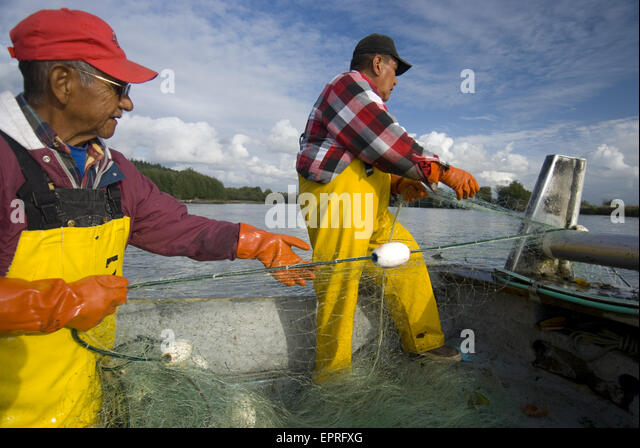 Salmon fishing river washington stock photos salmon for Drift net fishing