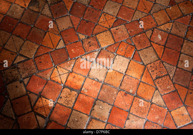 Antique Terracotta Floor Tiles.   Stock Image