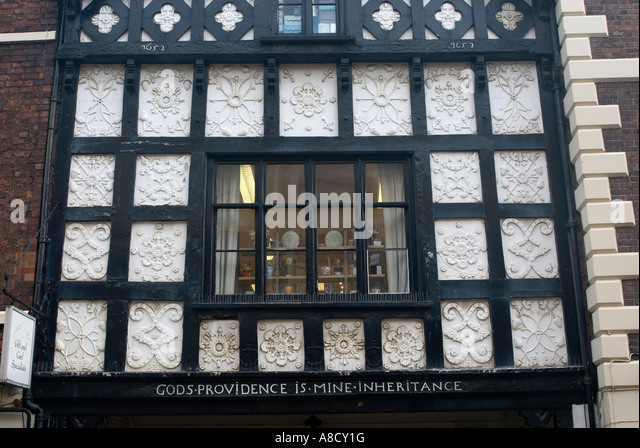 Tudor Architecture mock tudor architecture chester stock photos & mock tudor