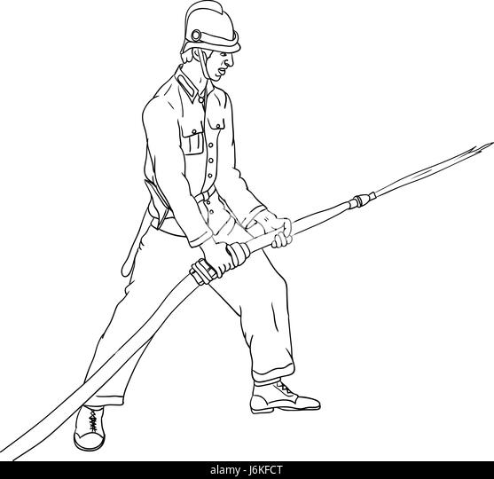 illustration paint fireman draw cartoon color humans human beings people folk stock image