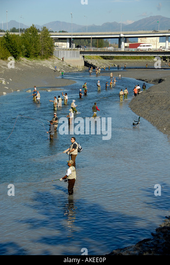 Ship creek anchorage stock photos ship creek anchorage for Salmon fishing anchorage