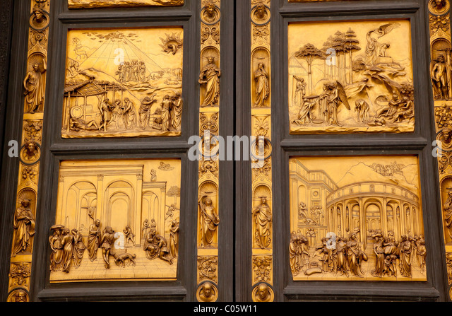 Ghiberti Paradise Baptistery Bronze Door Duomo Cathedral Florence Italy - Stock Image & Ghiberti Door Stock Photos \u0026 Ghiberti Door Stock Images - Alamy