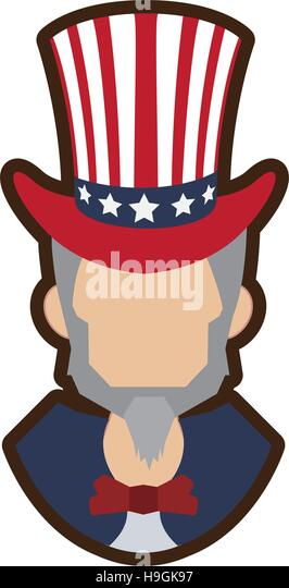 Cartoon Uncle Sam Symbol Icon