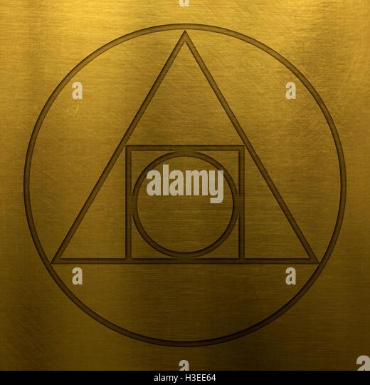 Alchemy symbol circle
