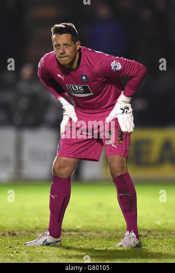 Plymouth Argyle Goalkeeper Luke Mccormick Stock Photos