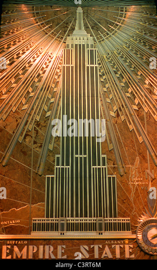 Great depression 1930s stock photos great depression for Empire state building art deco interior