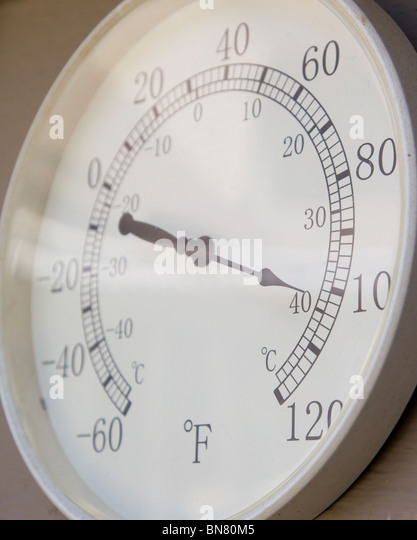 Outdoor Thermometer Stock Photos & Outdoor Thermometer